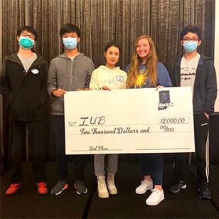 (From left) Huanyao Rong, Hongbo Chen, Yue Xiao, Julia Garrard, Yifan Zhang.