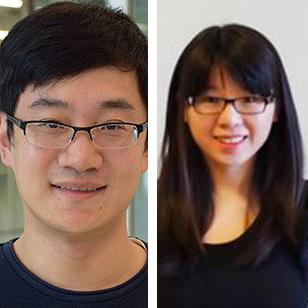 Photo of Luyi Xing and Xiaojing Liao